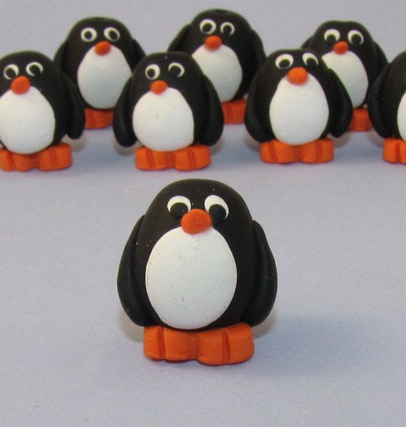 PDF Tutorial  How to Make Polymer Clay PENGUIN Beads!  Super cute & easy!