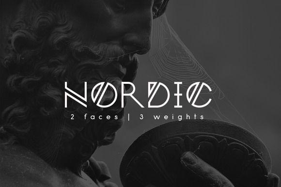 Nordic Font by ybereziner on @creativemarket
