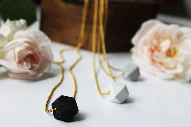 Naszyjnik Simple Geometric BLACK 1,6 cm - LawendowyBazar - Naszyjniki