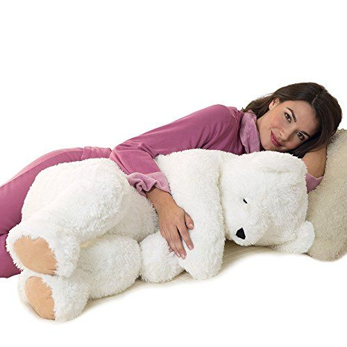 Vermont Teddy Bear  Giant Cuddle Buddy Bear 3 Feet Long White *** More info could be found at the image url. Amazon Affiliate Program's Ads.