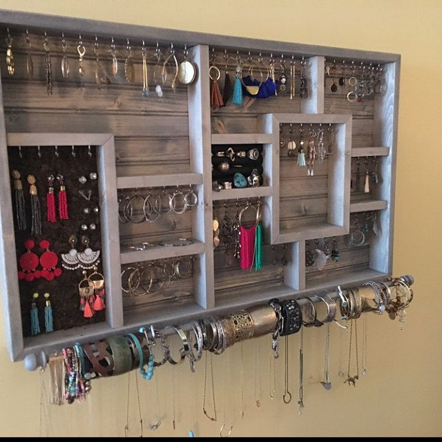 Organize Your Handmade Jewelry Etsy Jewelry Organizer Wall Jewelry Wall Dollar Store Diy Organization