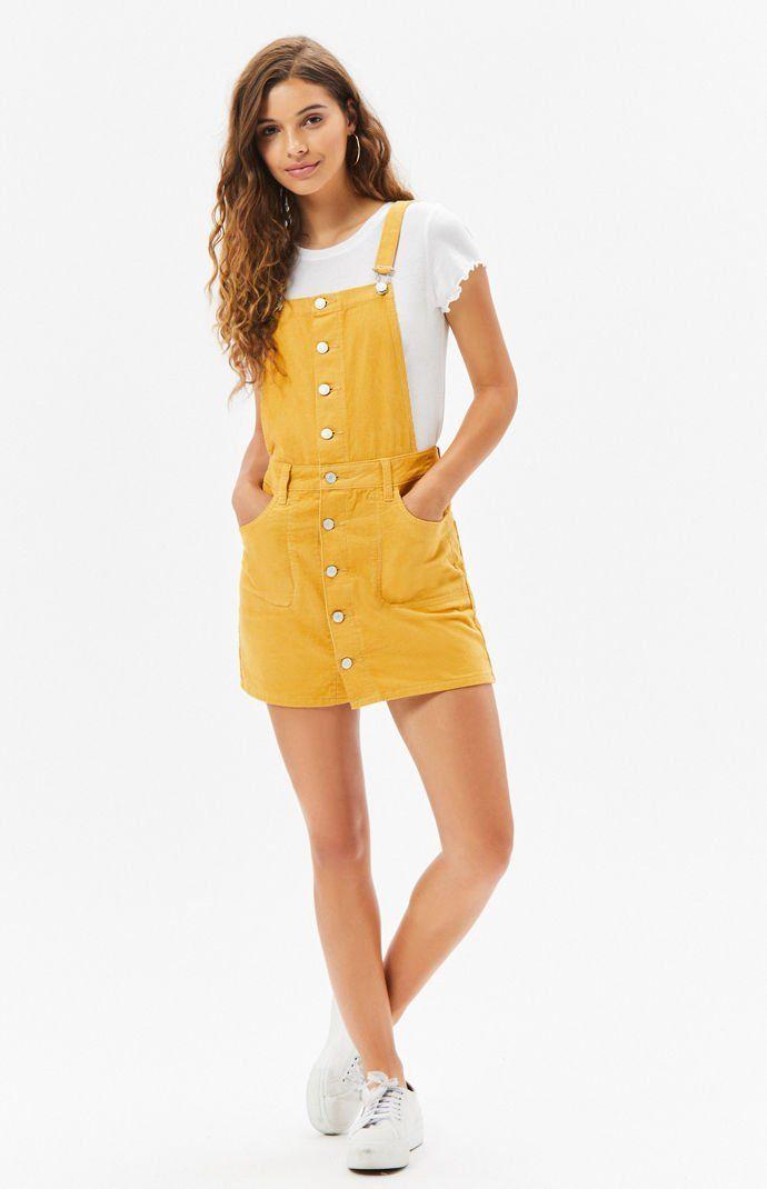 dd08e13fecb PacSun Button Front Corduroy Dress