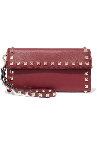 Valentino - The Rockstud Leather Wallet - Burgundy