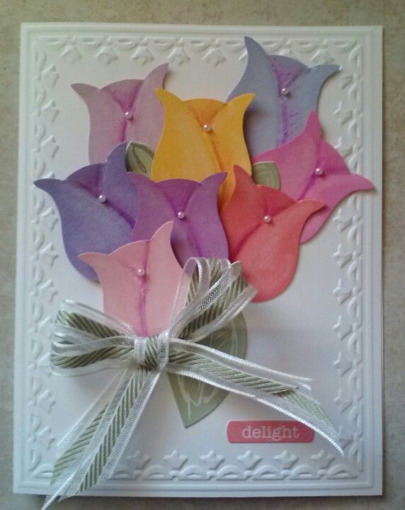 Love that owl punch! It allowed tulips to bloom! Gotta get the owl punch.  This card is beautiful