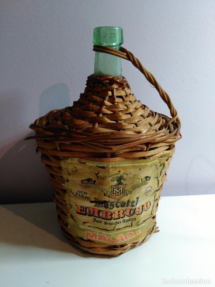 Compro Botellas De Vino Antiguas Garrafa De Mimbre De Moscatel Embrujo De Jose Sanches Ajofrin En