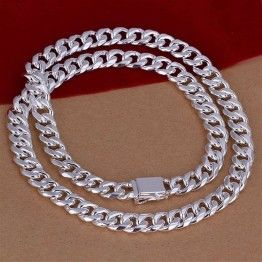INALIS Men's 115g Solid 925 Sterling Silver  Snake Chain Necklace