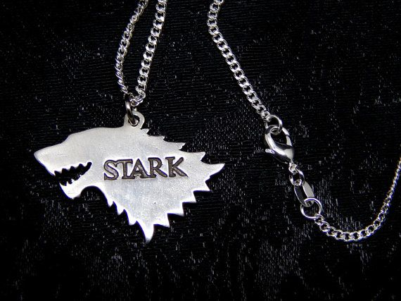 house STARK Sterling silver 925 necklace arya jonh snow by Oki007