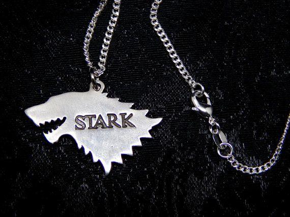 house STARK Sterling silver 925 necklace arya jonh snow by Oki007