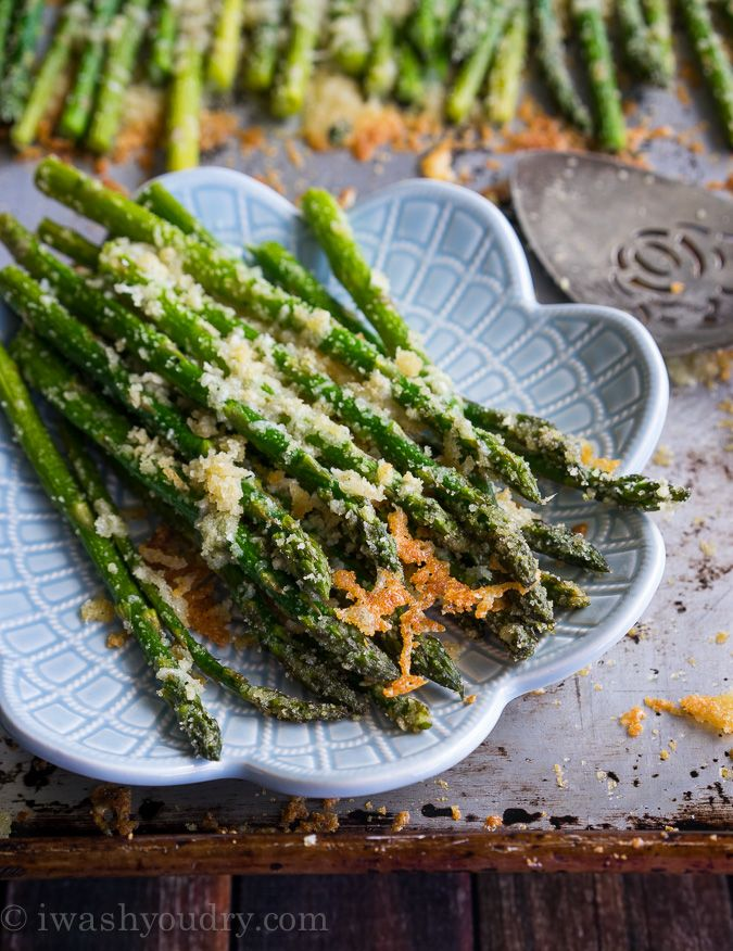 Parmesan Roasted Asparagus: If you can't get someone to eat their greens, just throw tons of cheese on there. Problem solved. - Delish.com