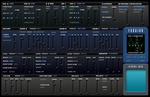 Xenobioz new release Funxion, a free hybrid synth VSTi plugin for Windows with many functions for waveforms and distorsion.