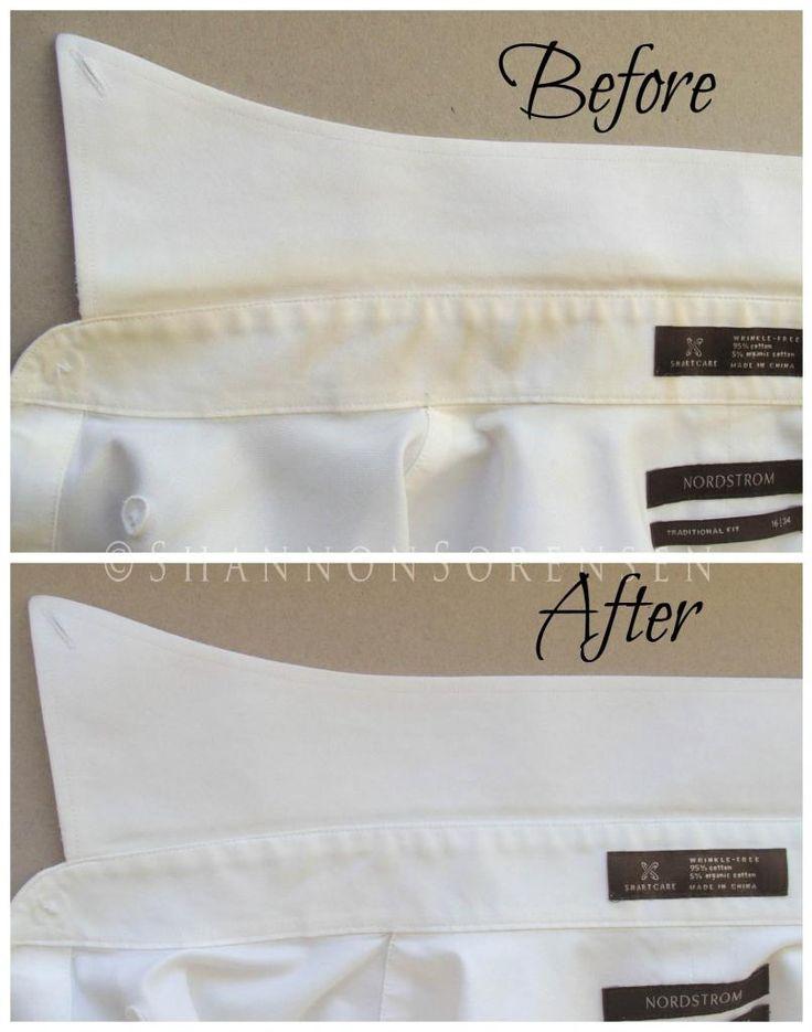 Agua oxigenada para quitar manchas sobre ropa blanca. Aplica directamente y…