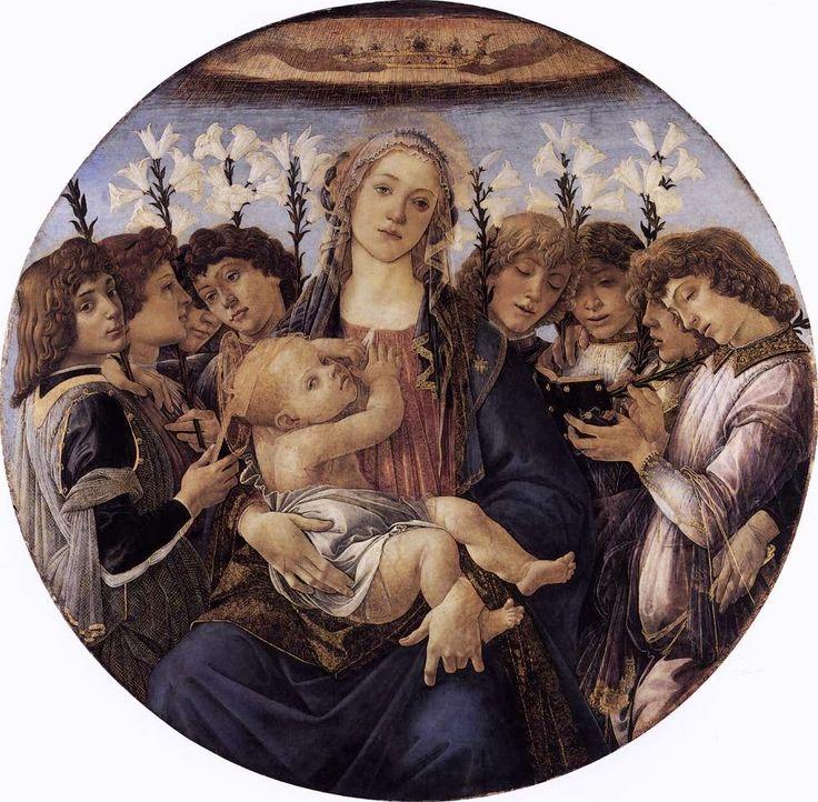 Η Παναγία το Θείο Βρέφος και οχτώ άγγελοι (1478)