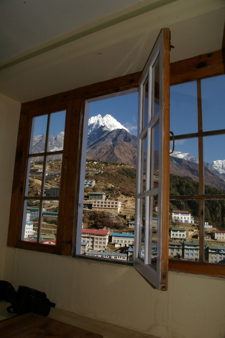 A room with a view at Namche Bazaar   #nepal #himalayas #hikingnepal