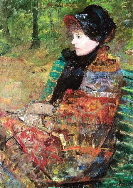 Mary Cassatt - Mademoiselle Lydia Cassatt, 1880