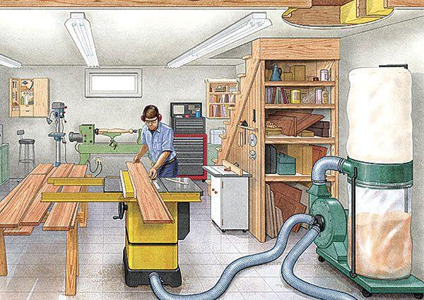 15 Tips for Basement Workshops