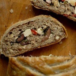 Græsk Morsbrød - fyldt vegansk nøddesteg