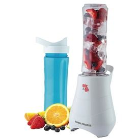 The George Foreman Mix and Go 600ml Blender is perfect for smoothies and shakes on the go!