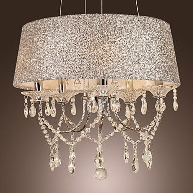 Modern Dazzling 5 Lights Chandelier With Crystal – USD $ 239.99