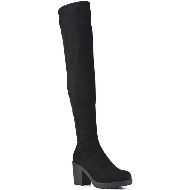 Black suede boot BM106