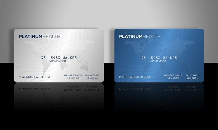Membership Card Design For Platinum Health By Ls Design With