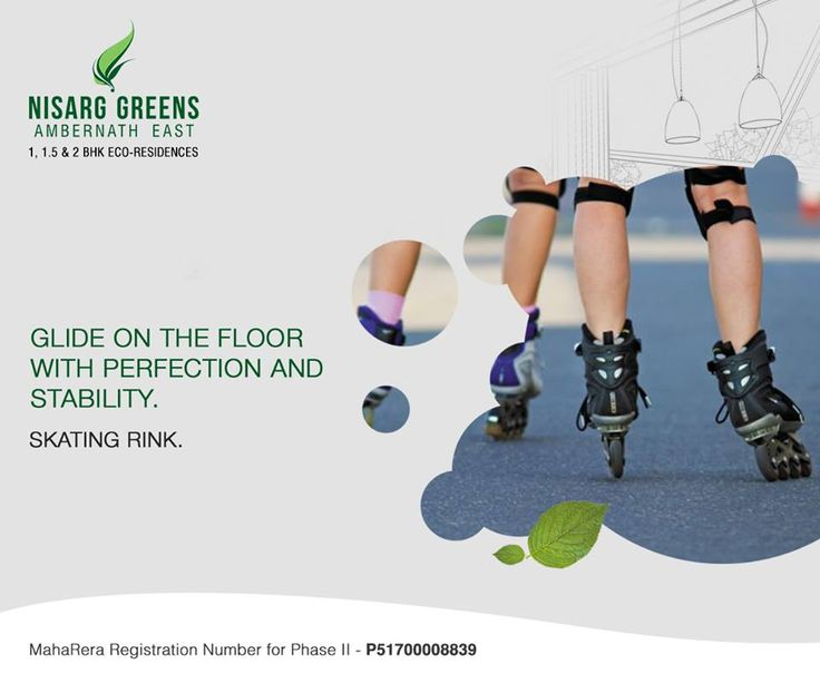 Nisarg Greens - Ambernath East 1, 1.5 & 2 BHK Eco-Residences Skating Rink #MahaRera Registration Number for Phase II - P51700008839 To know more log on to: http://www.nisarggroup.com/greens/ Or you can call on: 08655 787878   SMS 'GREENS' to 56161 #NisargGreens #Ambernath #RealEstate #EcoLuxury #Property #Homes
