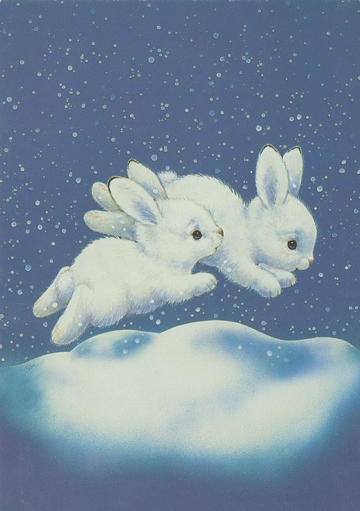 running Christmas bunnies~~