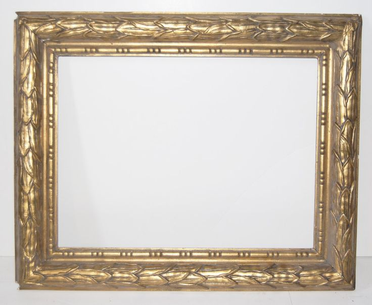 american stanford white frame with running leaf design and beadingcanvas that frame will accommodate 18 x 24 frame width 4