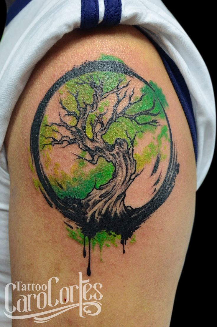 91 best baum tattoos images on pinterest tattoo ideas for Tree of life watercolor tattoo