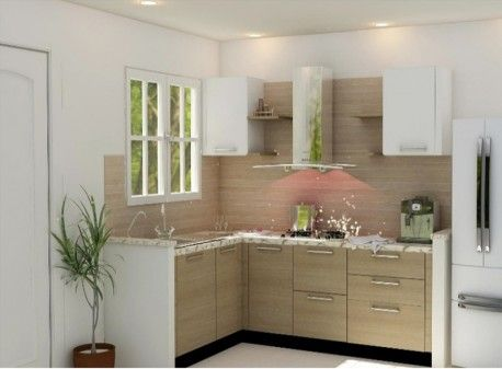 Get L Modular Kitchen AUTUMN LEAF AND IRISH WHITE at a low factory price. Delivery in only 15 days or we pay rent. Book your Modular Kitchen today.