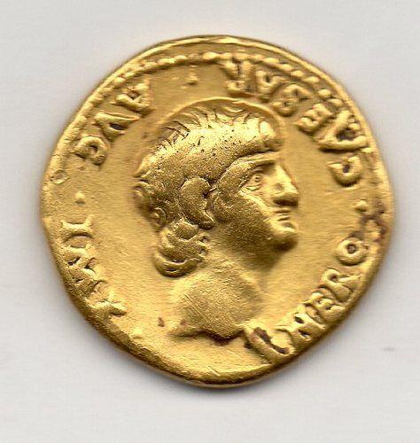 Roman Nero Gold Aureus 54 68 AD Rome Mint Rare Young Portrait | eBay