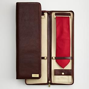 #redenvelope  #fathersday  Men's leather tie + accessories case from Red Envelope.