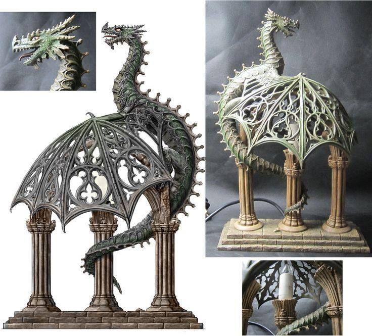 The Good People At Nemesis Now Sent Me Some Photos Of The Dragon Lamp They  Have Made From My Design, Which I Think Is Impressive. Dragon Lamp, Nemesis  Now