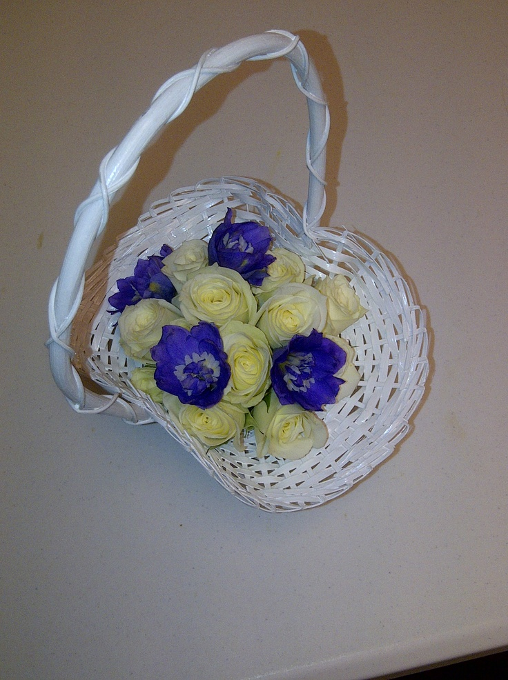 Flower Girl Baskets Small : Best images about blue wedding flowers on