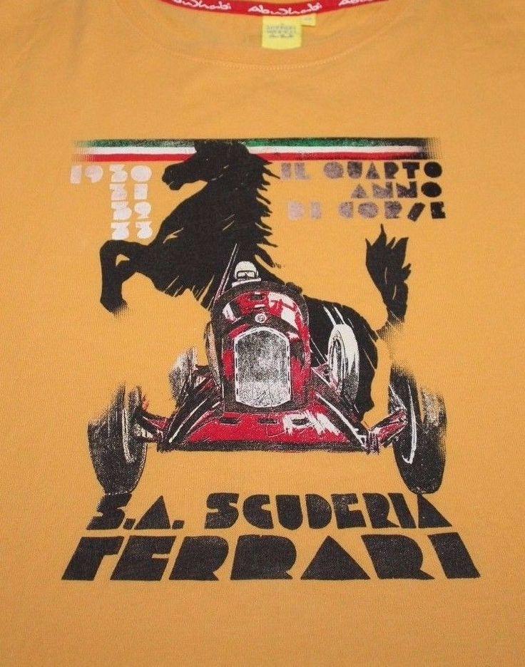 Ferraridesign Ferrari Yellow Abu Dhabi Il Quarto Anno Dorie  T Shirt Xxl