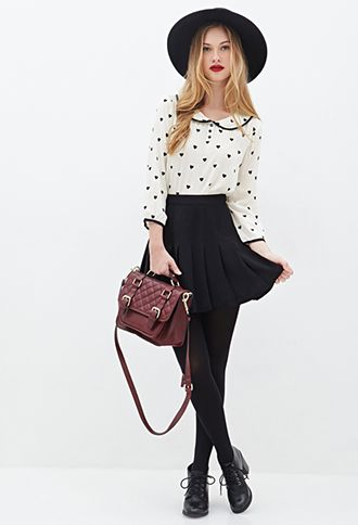 Heart Print Top | FOREVER21 - 2000100430