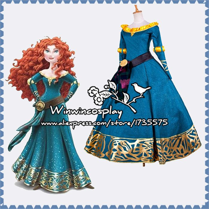 Cheap costumes mens, Buy Quality dresse directly from China dress super Suppliers: Hot Free Shipping Brave Merida Cosplay Costume Princess Merida Dress Halloween Costumes For Women & Girl Custom made in
