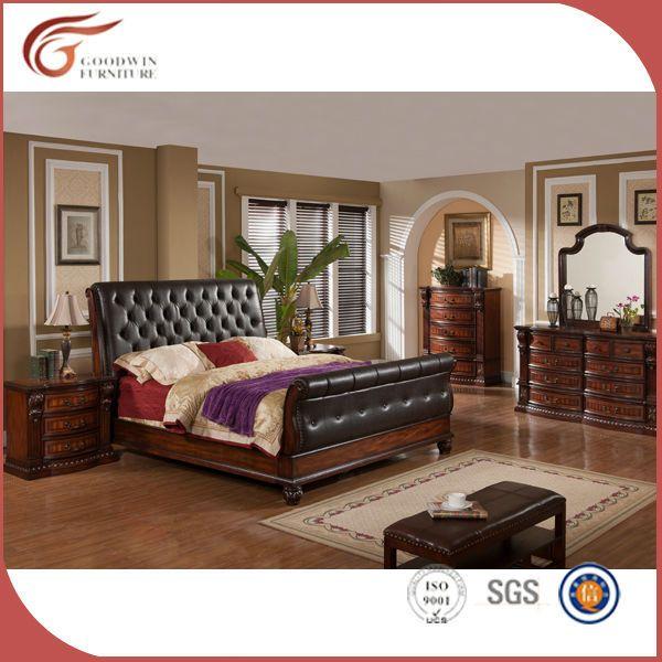 America style antique bedroom sets/luxury royal bedroom furniture/ classic king size bedroom sets WA145 #cream, #bedroom