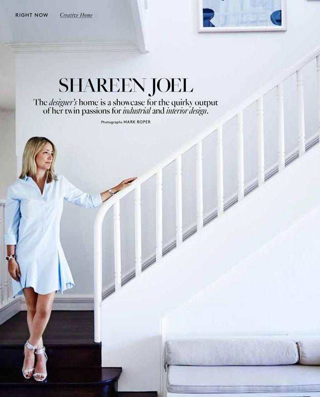 Shareen Joel of Share Design and Shareen Joel Design's Creative Home in Belle Magazine