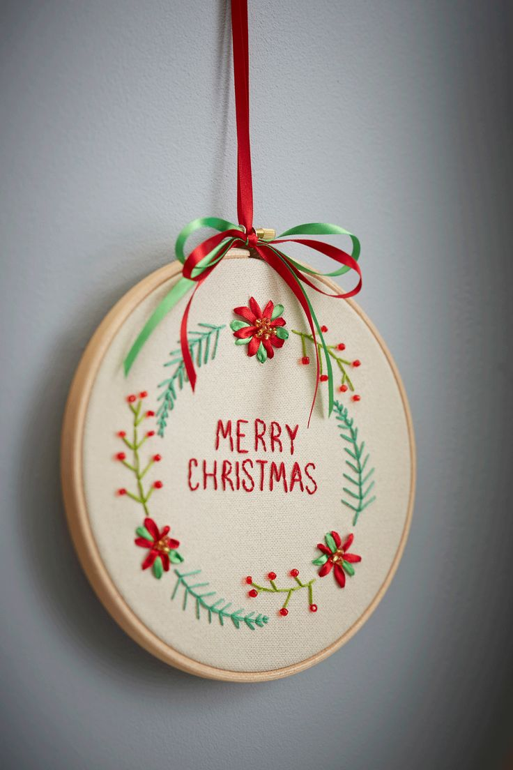 Christmas decorations to make yourself - Discover How To Make An Embroidered Wreath And Make Yourself A Christmas Decoration That S A Bit