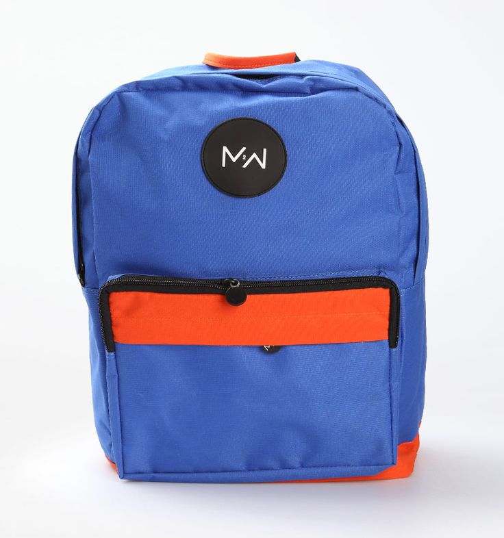 Two-Toned Colors Backpack by Monday 2 Weekend is available in blue-orang and orange-green. Size of length x width x height: 31 cm x 17 cm x 44 cm.  http://www.zocko.com/z/JKN8H