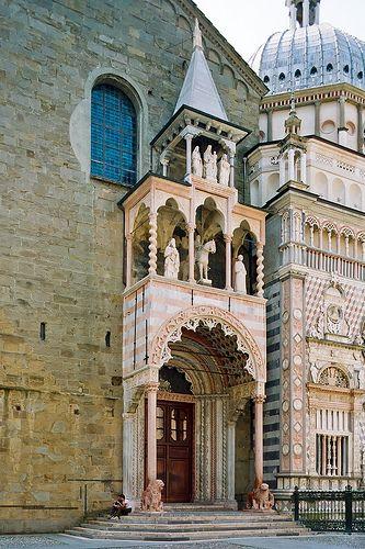 Bergamo Alto, Lombardia, Italy - Basilica di Santa Maria Maggiore.