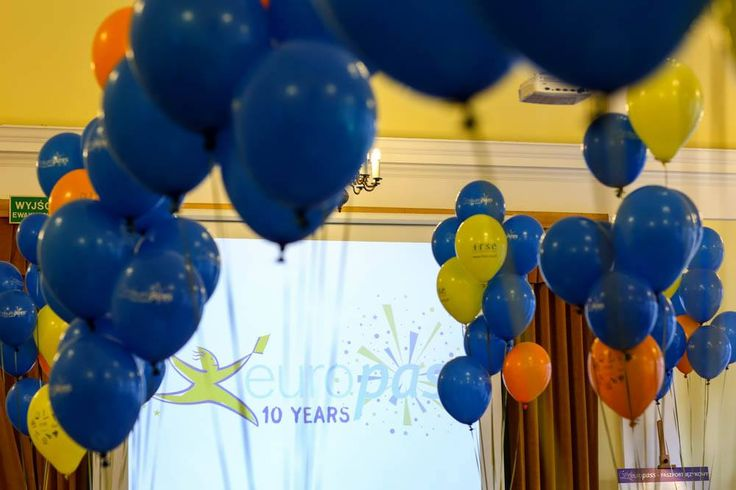 Celebrating #Europass10Years in Poland! #Europass #balloons #party