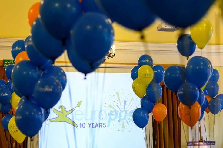 Celebrating #Europass10Years in Poland! #Europass #balloons #party