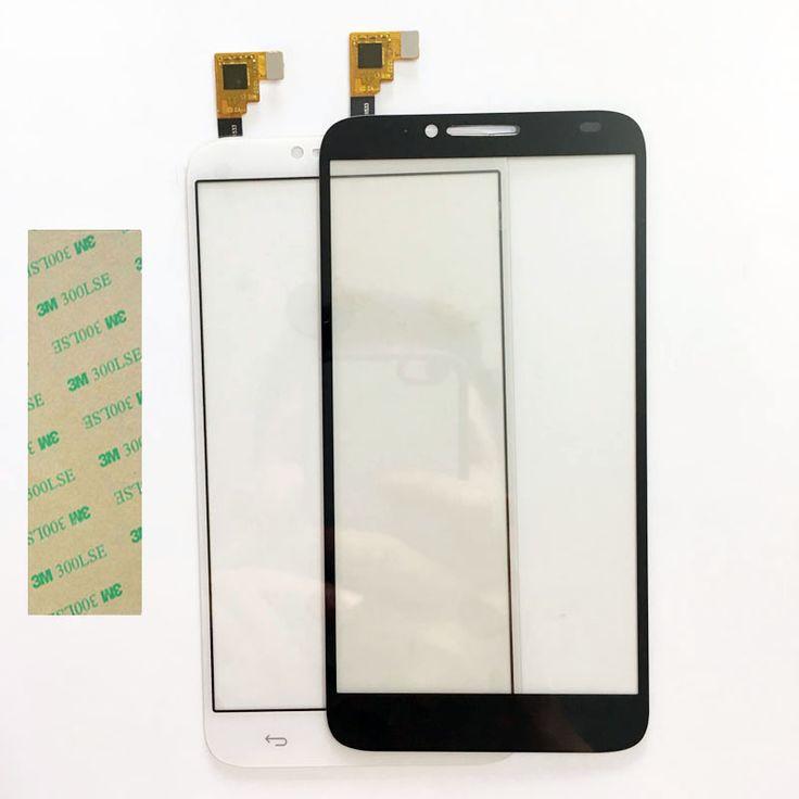 ใหม่โทรศัพท์t ouchscreen digitizerสำหรับalcatel one touch idol 2 6037 ot6037 6037yหน้าจอสัมผัสด้านหน้าแผงกระจกเลนส์+ 3เมตรกาว
