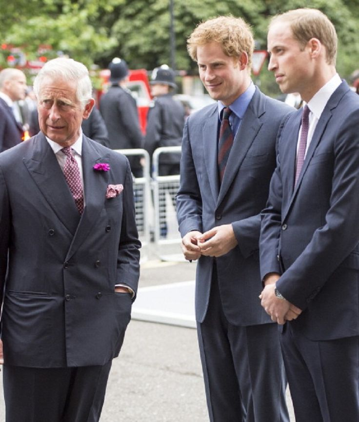 (L) Prince Charles, Prince of Wales with Prince William, Duke of Cambridge (R) and Prince Harry attending the BITC Annual Responsible Business Awards Gala at Royal Albert Hall, 08.07.2014 in London, England.