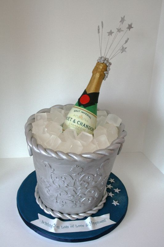 Cake Decorating Store Nj : Champagne Bottle and Bucket Cake: NJ Custom Specialty ...
