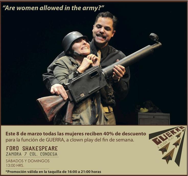 """""""Are women allowed in the army?"""" Promoción especial por el Día Internacional De La Mujer (todos los derechos, todos los días)"""