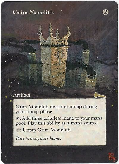 Magic Card Alteration: Grim Monolith by ~Ondal-the-Fool on deviantART
