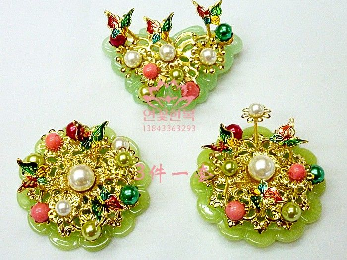 Korean, Joseon Dynasty Dwikkotyi Hair Ornaments
