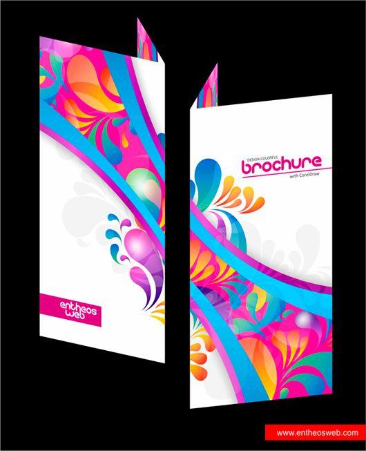 Colorful Brochure Design in CorelDraw